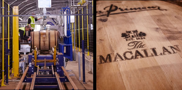 macallan distillery barrel filling
